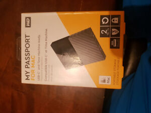 My passport for mac! External hard drive 2 tb western digital