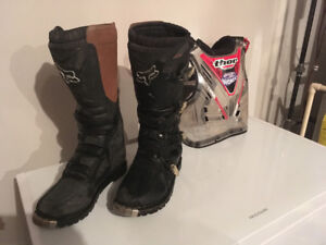Fox Motocross boots/thor chest protector