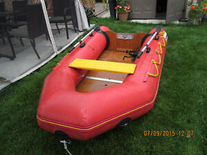 Rubber Dinghy with electric motor