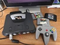 Nintendo 64 Complete with leads pad & one Game