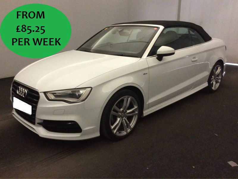 £366.56 PER MONTH Audi A3 Cabriolet 2.0 TDI 2015 150 S Line Convertible