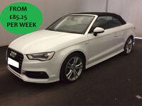 £366.56 PER MONTH Audi A3 Cabriolet 2.0 TDI 2015 150 S Line Convertible
