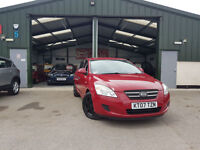 2007 Kia ceed 1.6 Special Edition SR RED PETROL MANUAL FULL SERVICE HISTORY