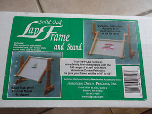 American Dream Solid oak embroidery lap frame New in box London Ontario image 1