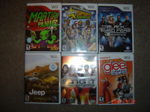 6 Wii Games for $20.00