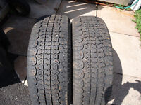 2  205-65-15 Studed Winter Tires