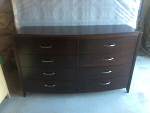 Wood Dresser and Night tables