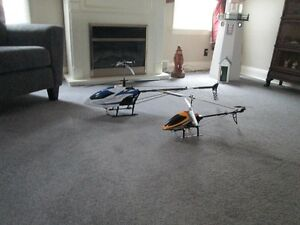 two rc helicopters for sale