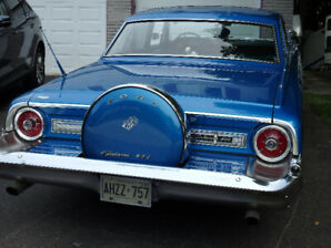 BLUE 1964 FORD GALAXIE 500,  4 DOOR, IN MINT CONDITION.