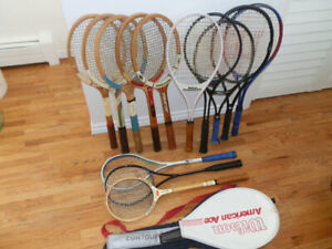 Collection of 13 Tennis and Squash Racquets(Some Vintage)