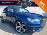 2013 63 AUDI A1 1.4 TFSI BLACK EDITION 3D 138 BHP SUNROOF METALLIC BLUE