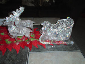 really pretty reindeer and sleigh decoration