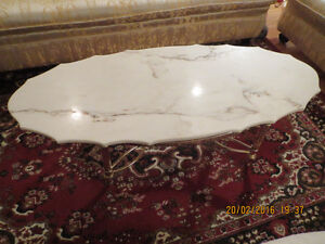Marble top coffee table.