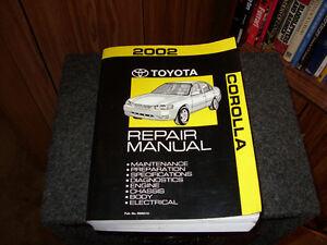2002 Toyota Corolla Factory Repair Manual Cambridge Kitchener Area image 1