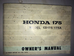 1972 Honda CD175 Owners Manual