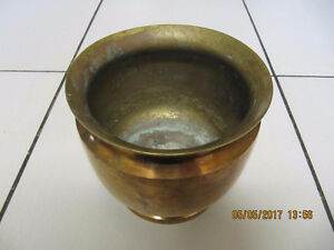 Vintage Classic Solid Brass Bowl/Planter Made In India Circa1963