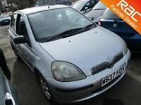 2000 Toyota Yaris Hatch 5Dr 1.0 16v VVTi CDX Petrol silver Manual