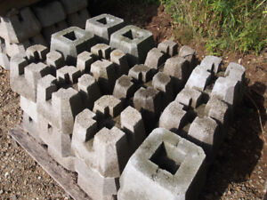 Used Cement Deck Blocks