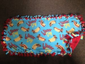 Wiener Dog handmade fleece blankets