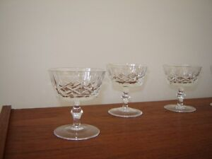 8 Antique crystal cocktail or dessert stemmed dishes London Ontario image 3