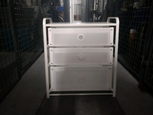 3 Draw chest, Table+chairs, kitchen appliances and accessories