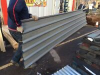 Metal roofing sheets 17ftx3ft £8 each