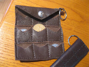 BRAND NEW LEATHER KEY CHAIN AND COIN HOLDERS