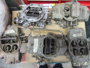 Chevy  Aluminum Intakes and Holley Carb $120.