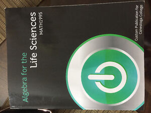 Alegebra for Life Sciences Textbook for Sale Cambridge Kitchener Area image 1