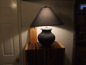 Royal blue table lamp
