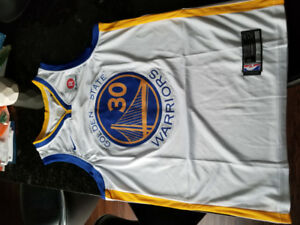 #30 WARRIORS NBA JERSEY-CURRY (Blue or Yellow) Large New