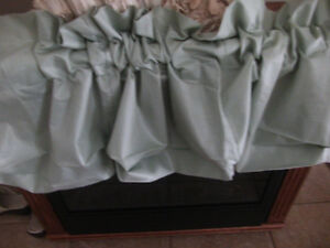 mint green balloon valance