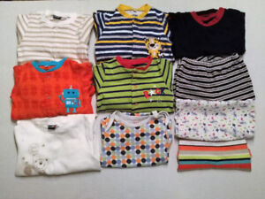 Pyjamas 24 mois, 10 mcx  - Baby PJs 10 clothing items 2T