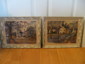 PAIR of MATCHING FRAMED PHOTOGRAPHIC PRINTS by JOHN ROGERS