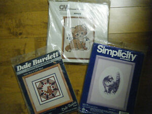 CROSS STITCH KITS..PRICE IS FOR EACH. KITTENS AND BEARS UNOPENED