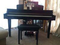 Yamaha clavinova polished black grand piano