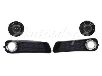 For 2011-2014 Dodge Avenger Front Bumper Outer Grille Fog Light Trim 4Pcs