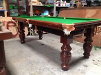 Snooker table 7x4 slate bed