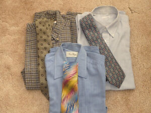 men's shirts & ties - can sell separately