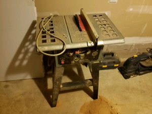 """King 10"""" Table Saw With Stand and Accessories"""