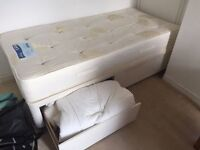 Dreams single bed with built in storage - matress