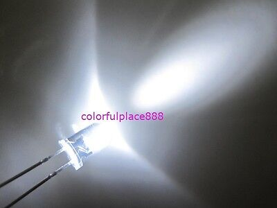 100pcs 5mm White 20000mcd Round High Power Super Bright Water Clear Led Leds