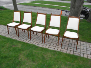 Mid Century High Back Dining Chairs Frames 5 MCM Retro