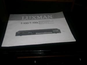 LUXMAN T 100 TUNER