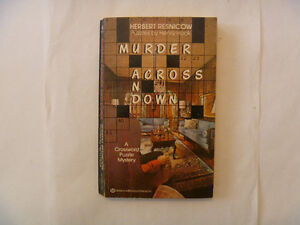 MURDER ACROSS AND DOWN by Herbert Resnicow - 1985 Paperback