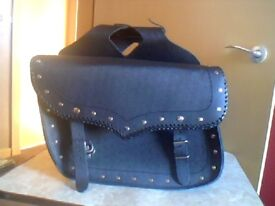 Pair of Studded Saddlebag Style Motorcycle Panniers