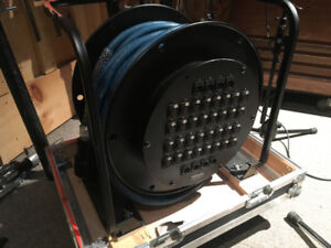 Various Whirlwind audio snakes and WD7 reel