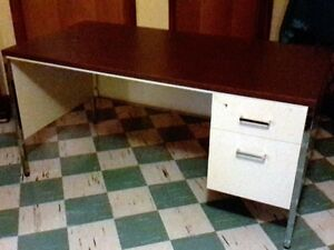 Metal Two Drawer Office Desk  $99