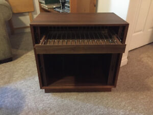 Mid-Century Modern record /8 Track tape cabinet
