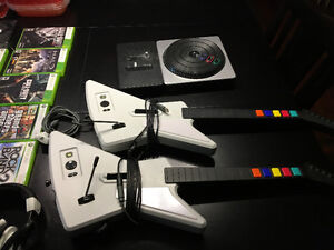 Complete Xbox 360 Package with Rockband/Guitar Hero